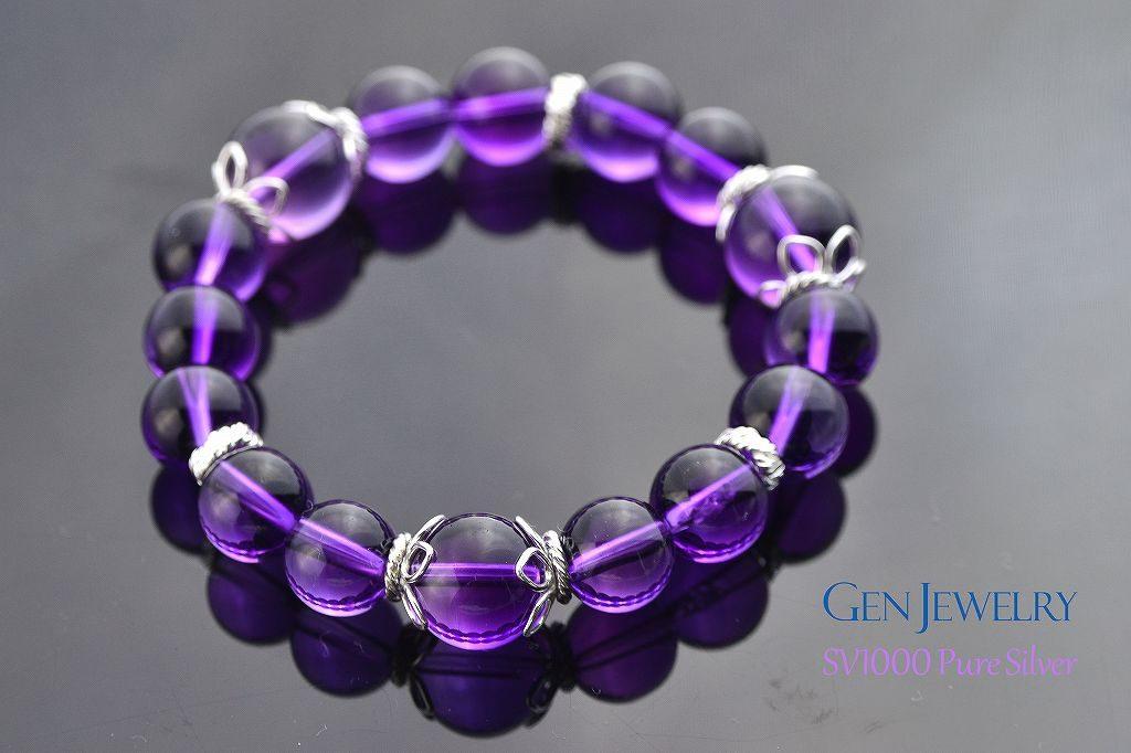 高貴な紫があなたの直観力 透明なアメジストのブレス リニューアル-2
