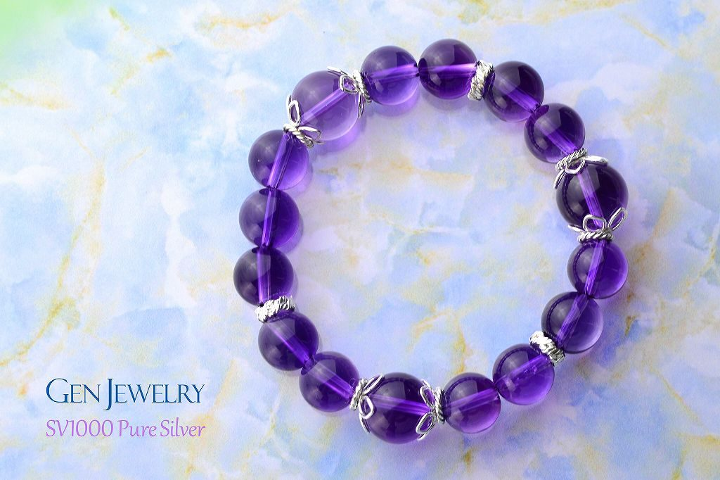 高貴な紫があなたの直観力 透明なアメジストのブレス リニューアル-4