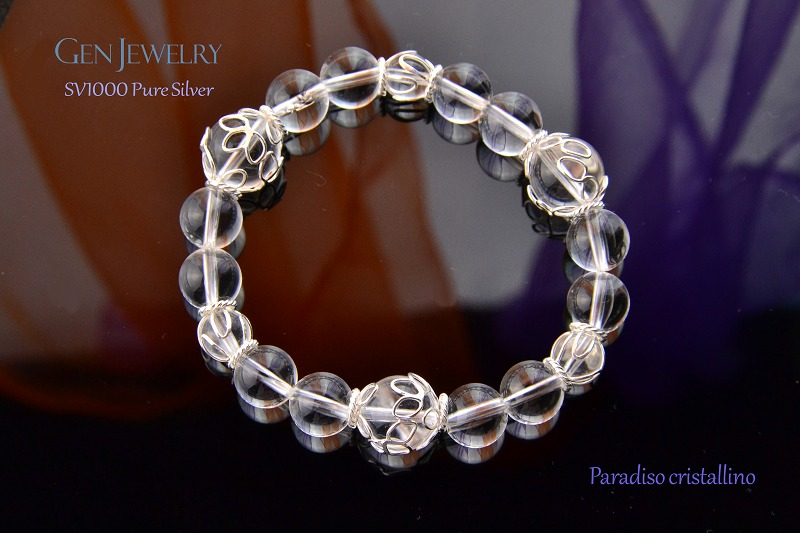 Paradiso cristallino 無添加純銀・花篭水晶ブレスレット パラディソ クリスタリーノ-1