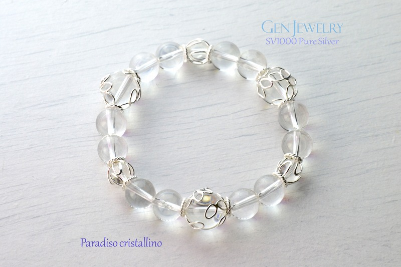Paradiso cristallino 無添加純銀・花篭水晶ブレスレット パラディソ クリスタリーノ-7