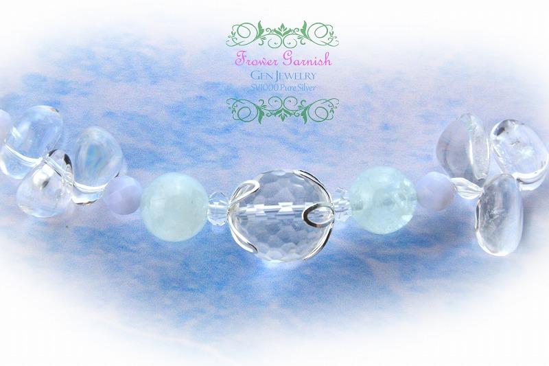 【Frower Garnish】冷静さが場を和ませる、鎮静の華のブルーネックレス(無添加純銀)-4