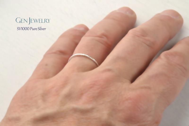とっても細い無添加純銀のリング(送料無料)-2