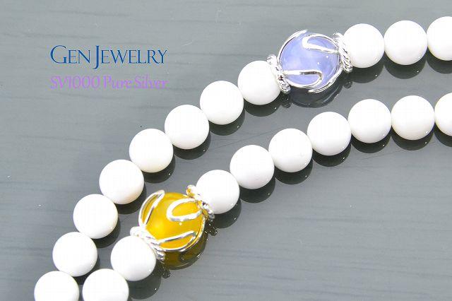 【華数珠】ホワイトクォーツァイトの長数珠-2