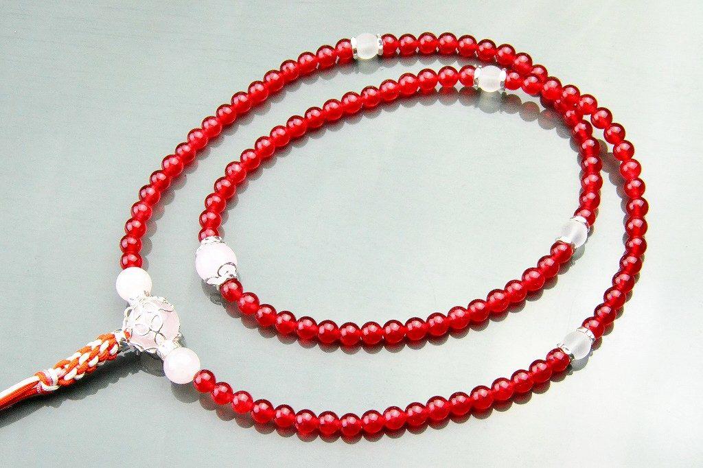 【華数珠】クリアな紅い数珠