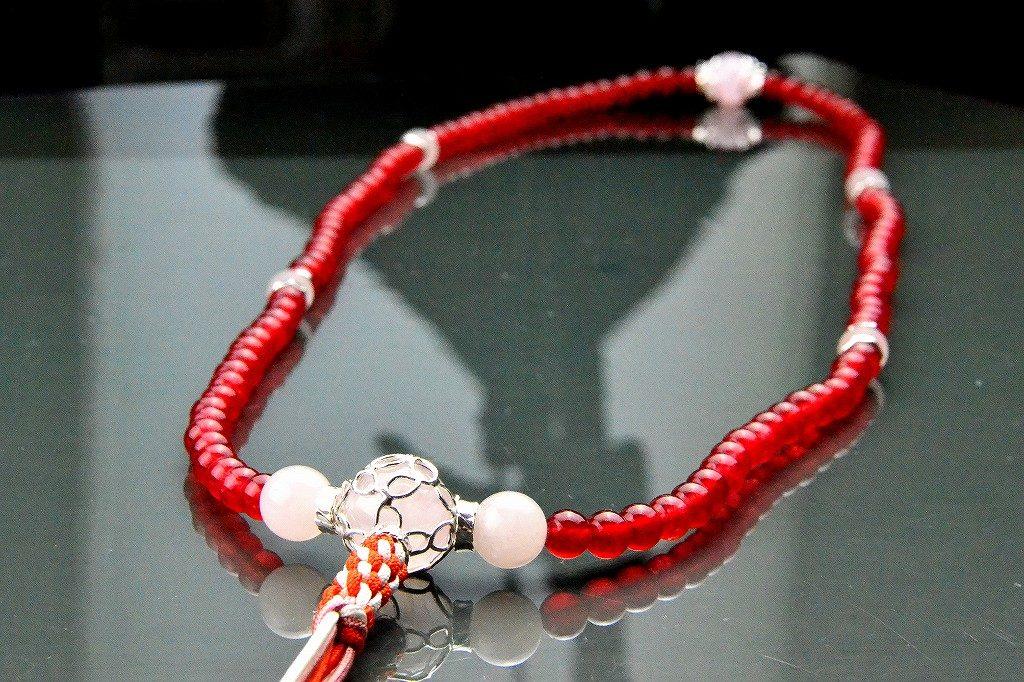 【華数珠】クリアな紅い数珠-2