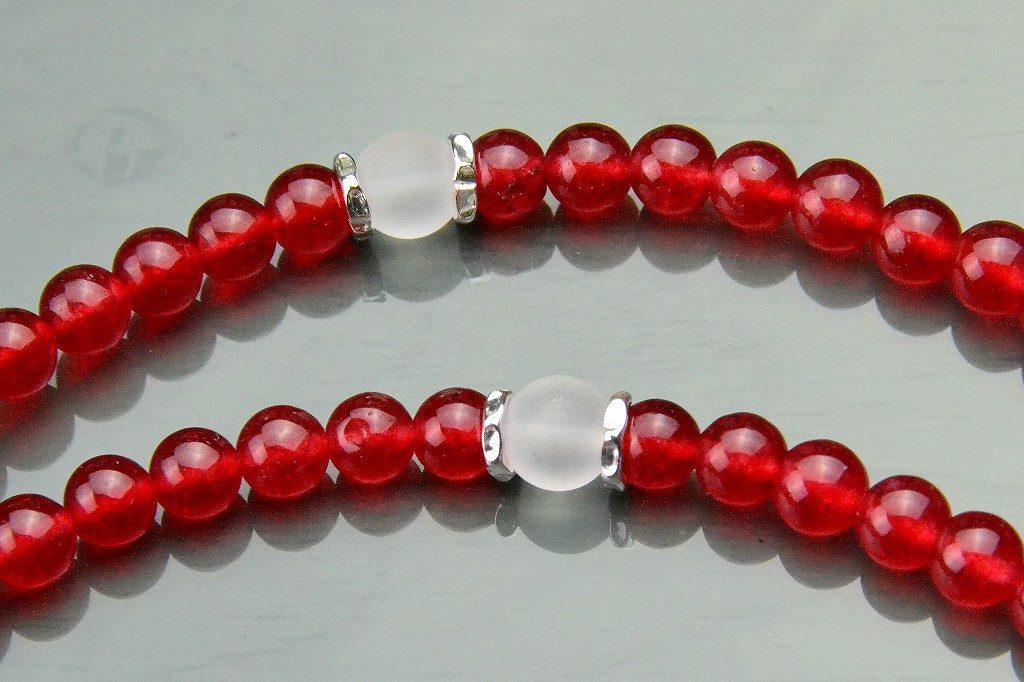 【華数珠】クリアな紅い数珠-5