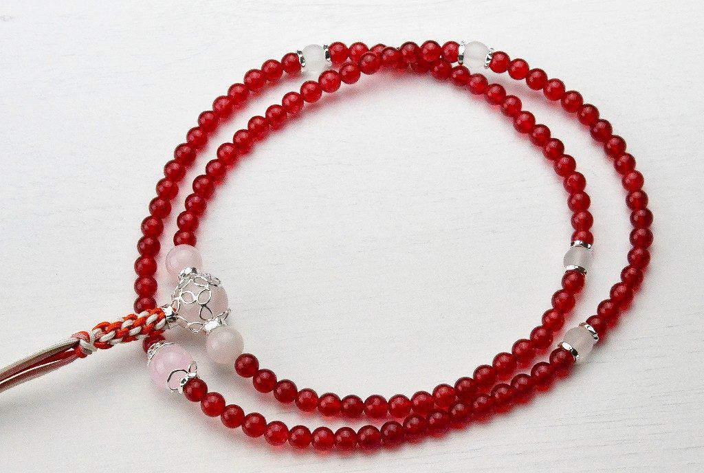 【華数珠】クリアな紅い数珠-7
