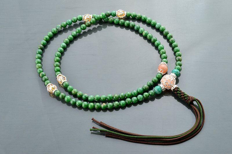 【華数珠】グリーンクォーツの華数珠