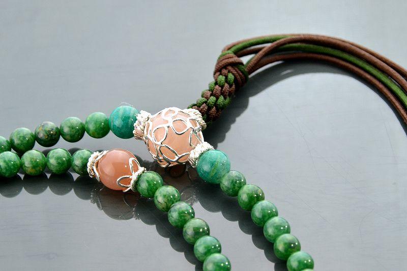 【華数珠】グリーンクォーツの華数珠-1