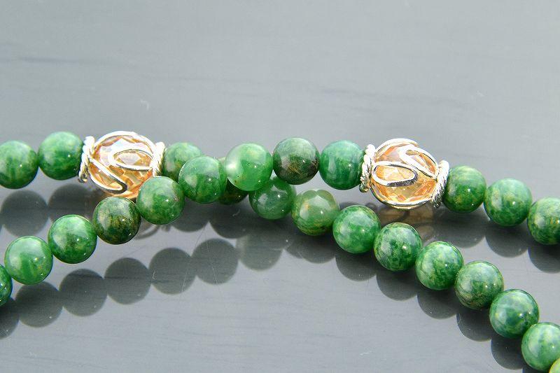 【華数珠】グリーンクォーツの華数珠-2