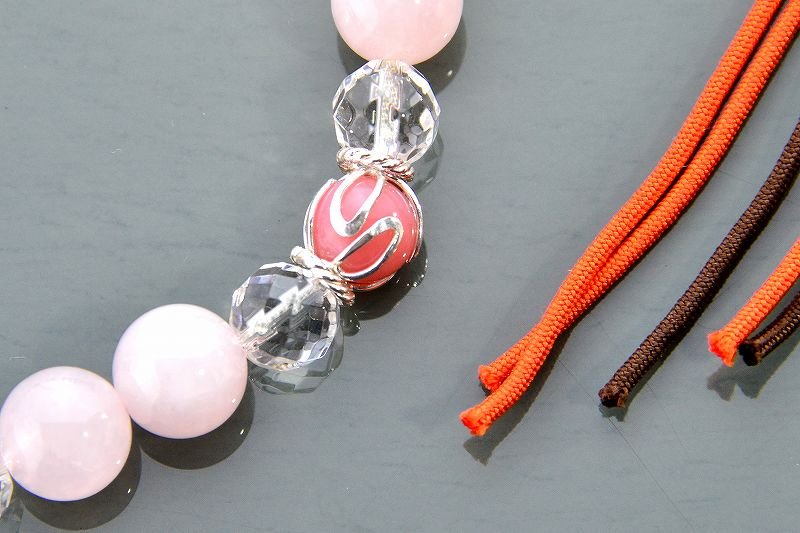【華念珠】ピンクと紅の華念珠-2