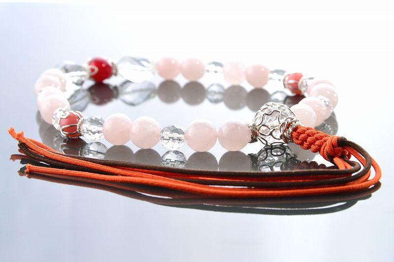 【華念珠】ピンクと紅の華念珠-4