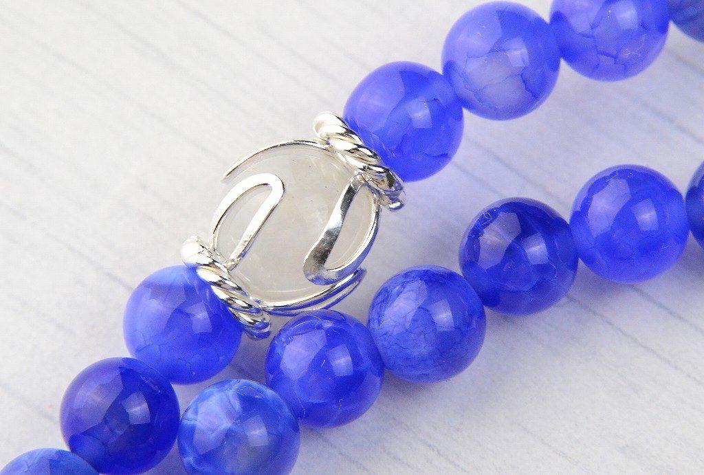 【華数珠】ブルーアゲートの華数珠-2