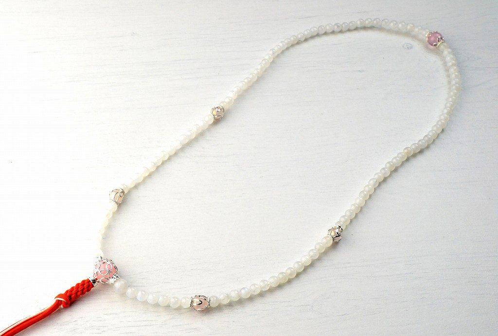【華数珠】レインボームーンストーンの華数珠-3