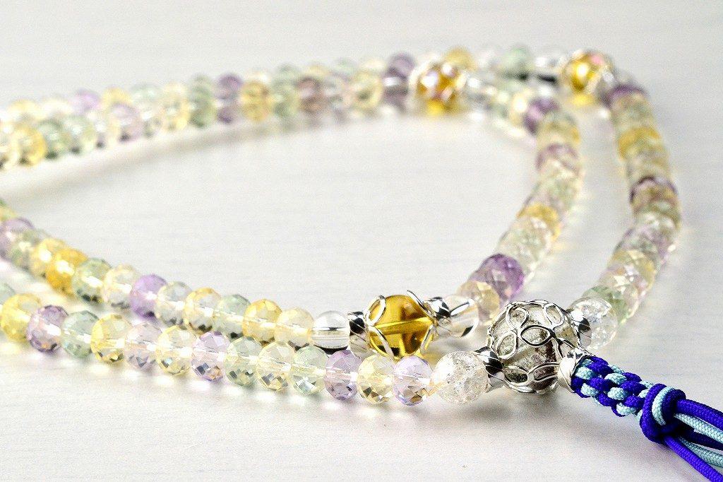 【華数珠】マルチカラーストーンの華数珠