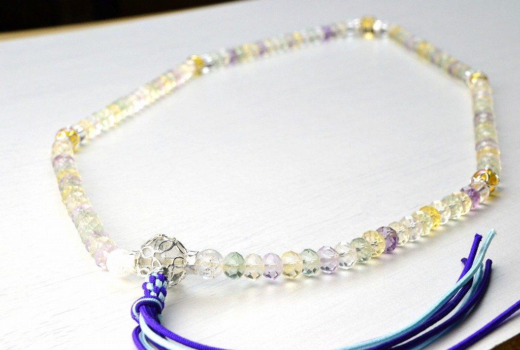 【華数珠】マルチカラーストーンの華数珠-1