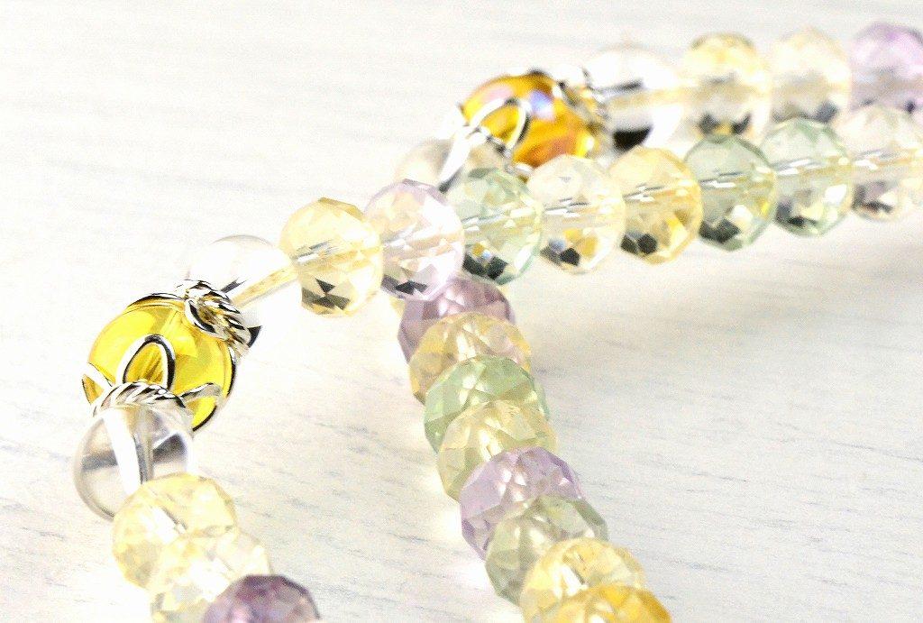 【華数珠】マルチカラーストーンの華数珠-3