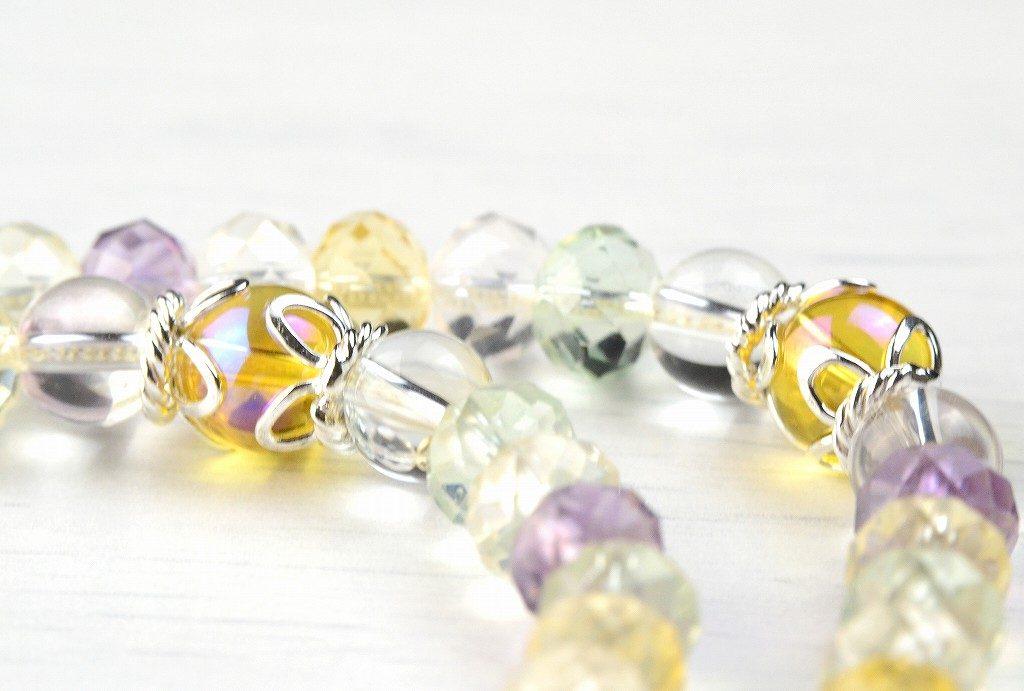 【華数珠】マルチカラーストーンの華数珠-4