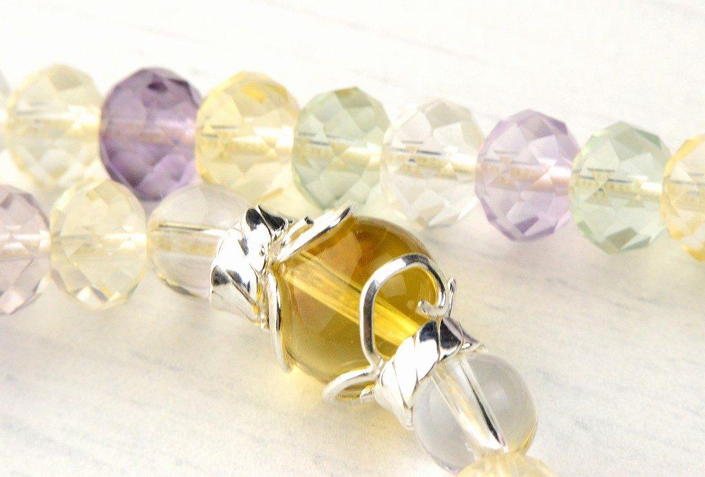 【華数珠】マルチカラーストーンの華数珠-5