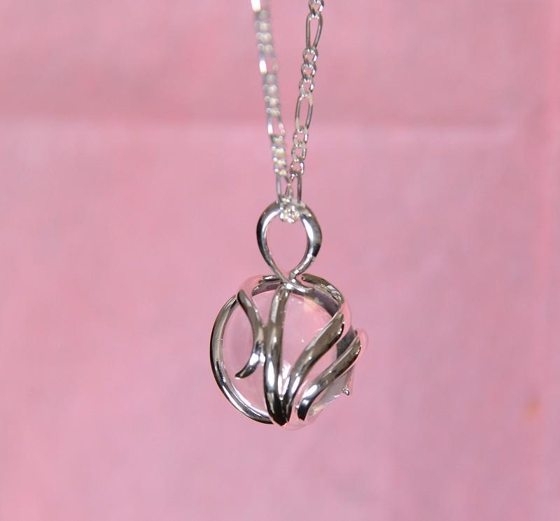 無添加純銀 フュージョンルーツ  水晶ネックレス-1