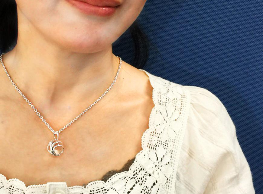 無添加純銀 フュージョンルーツ  水晶ネックレス-2