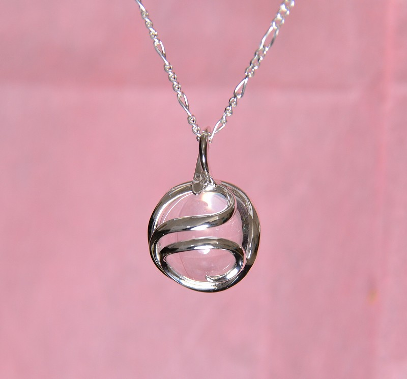 無添加純銀 フュージョンルーツ  水晶ネックレス-6