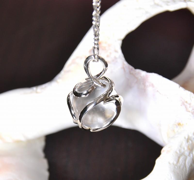 無添加純銀 フュージョンルーツ  水晶ネックレス-10